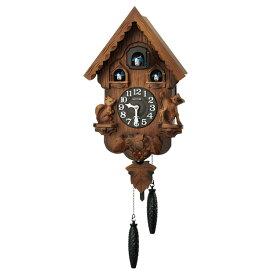 リズム 掛け時計 掛時計 カッコー時計 鳩時計 カッコーパンキーR 茶 4MJ221RH06 クロック CLOCK