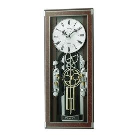 リズム時計 電波からくり時計 ソフィアーレプリモ 4MN535SR23 クロック CLOCK 電波時計 掛け時計