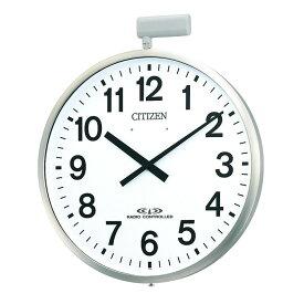 リズム RHYTHM 屋外用電波掛時計(ポール時計) ポールウェーブSF 4MY611-N19 クロック CLOCK お取り寄せ
