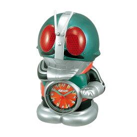 リズム時計 クロック 目覚まし時計 アラームクロック 4SE502RH05 仮面ライダー キャラクタークロック 話す 声を出す 喋る時計