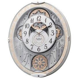 リズム時計 電波時計 掛け時計 電波掛け時計 スモールワールド ノエル NS 8MN407RH03