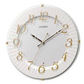 シチズン CITIZEN リズム時計 電波時計 掛け時計 電波掛け時計 8MY537-018