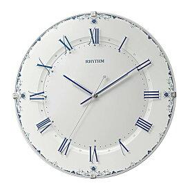 リズム時計 電波時計 掛け時計 電波掛け時計 アラカルト539 8MY539SR04