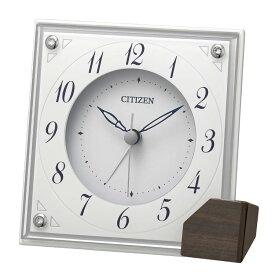 リズム時計 置き時計 アラーム付クオーツ置時計 8RG625-003