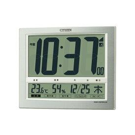 CITIZEN シチズン 掛け時計 掛時計 クロック 電波デジタル時計 パルデジットワイド140 掛置兼用 温湿度計付 8RZ140-019