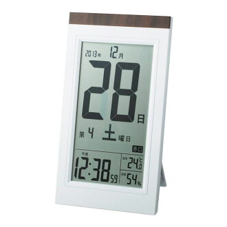 What I did to graduation, a graduation souvenir? With the block calendar 電波時計温, hygrometer take it, and put it; combined use alarm clock Adesso KW9254