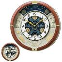 セイコー SEIKO からくり 30周年記念モデル お城 ブラウン 茶色 メロディ内臓 からくり時計 掛け時計 RE601B お取り寄せ