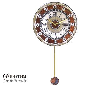 リズム時計 掛時計 飾り振り子付時計 Zaccarella ザッカレラ Z135 ZC135-001 お取り寄せ