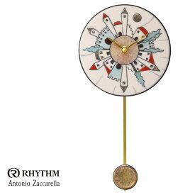リズム時計 掛時計 飾り振り子付時計 Zaccarella ザッカレラ Z917 ZC917-003