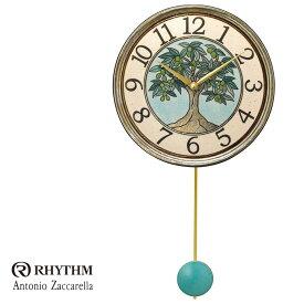 リズム時計 掛時計 飾り振り子付時計 Zaccarella ザッカレラ Z947 ZC947-004 お取り寄せ