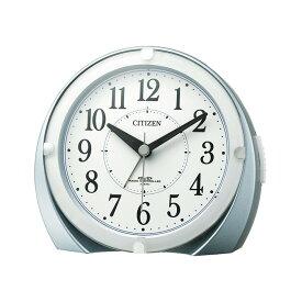リズム時計 CITIZEN シチズン 電波時計 目覚まし時計 ライト付き 置き時計 電子音 4RL431-N04