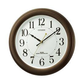 リズム時計 CITIZEN シチズン 電波時計 掛け時計 ブラウン 茶色 掛時計 8MY509-006