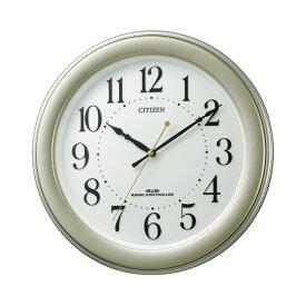 リズム時計 CITIZEN シチズン 電波時計 掛け時計 メタリックゴールド 掛時計 8MY509-018