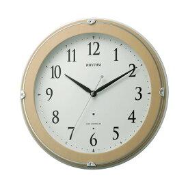 リズム時計 電波時計 ピュアライトマーロン 掛け時計 スワロフスキー ベージュ 8MYA23SR13