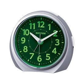リズム時計 電子音目覚まし時計 ルークR666 夜光る 蓄光 置時計 めざまし時計 8RE666SR19