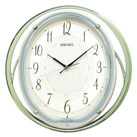セイコー SEIKO 掛け時計 振り子時計 電波時計 大きく揺れる 振子時計 音楽内蔵 グリーン AM262M インテリア時計 お取り寄せ