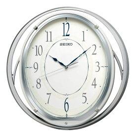 セイコー SEIKO 掛け時計 電波時計 大きく揺れる 振子時計 音楽内蔵 シルバー AM262W インテリア時計 お取り寄せ