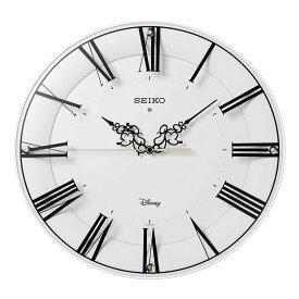 セイコー SEIKO 掛け時計 電波時計 大人ディズニー ミッキー ミニー シンプル FS506W インテリア時計 お取り寄せ