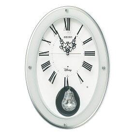 セイコー SEIKO 掛け時計 振り子時計 電波時計 大人ディズニー ミッキー ミニー スワロフスキー振子 FS508W インテリア時計 お取り寄せ