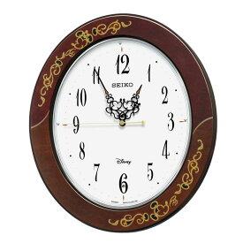 セイコー SEIKO 掛け時計 電波時計 大人ディズニー ミッキー ミニー 木枠 ブラウン FS510B インテリア時計 お取り寄せ