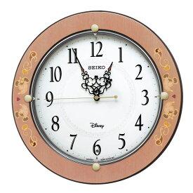 セイコー SEIKO 掛け時計 電波時計 大人ディズニー ミッキー ミニー 木枠 ピンク FS511P インテリア時計 お取り寄せ