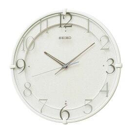 セイコー SEIKO 掛け時計 電波時計 シンプル 白系 スワロフスキー使用 KX215W インテリア時計 お取り寄せ
