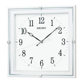 セイコー SEIKO 掛け時計 電波時計 シンプル ホワイト 白 四角形 KX232W インテリア時計 お取り寄せ