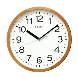 セイコー SEIKO 掛け時計 電波時計 木枠 天然木 北欧風 ナチュラルモダン KX249B インテリア時計 お取り寄せ
