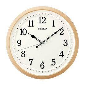 セイコー SEIKO 掛け時計 電波時計 ナチュラル 木目調 北欧風 見やすい 石膏ボード KX255B インテリア時計 お取り寄せ