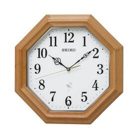 セイコー SEIKO 掛け時計 電波時計 野鳥のさえずり収録 木枠 八角形 木目 RX216B インテリア時計 お取り寄せ