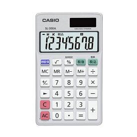 小型手帳タイプ SL-300A-N カシオ CASIO 小さい 8桁表示 税計算 時間計算 2電源 ソーラー 電卓