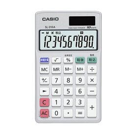 手帳タイプ SL-310A-N カシオ CASIO 小さい 10桁表示 税計算 時間計算 2電源 ソーラー 電卓