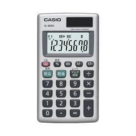 カード電卓 SL-660A-N カシオ CASIO カードタイプ 小さい 小型 携帯 モバイル 持ち運び カバー付き 8桁表示 税計算 マルチ換算 2電源 ソーラー 電卓