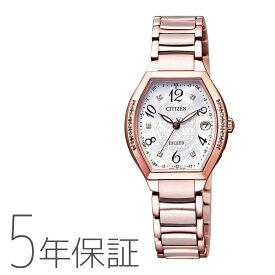 エクシード EXCEED ES9385-57W シチズン CITIZEN ソーラー電波時計 トノー型 チタンバンド ダイヤ入り サクラピンク レディース 腕時計 お取り寄せ