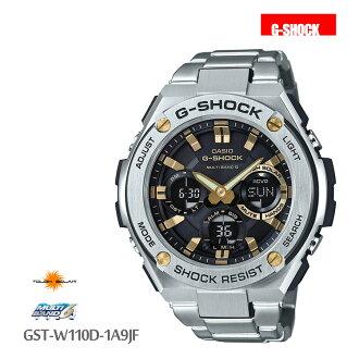5年保证卡西欧CASIO G-SHOCK G打击电波电波钟表G钢铁GST-W110D-1A9JF