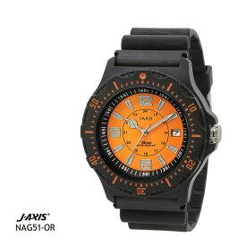 ジェイアクシス J-AXIS サン・フレイム 10気圧防水腕時計 メンズ NAG51-OR 全国送料無料 ネコポス限定