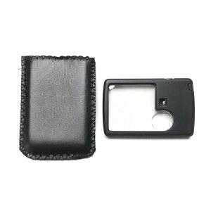 照らすLED付き カード型拡大鏡 ケンコー ケンコートキナー KCL-9045 ライト付き ルーペ 携帯用 持ち運び 虫眼鏡 拡大鏡 2倍 手元