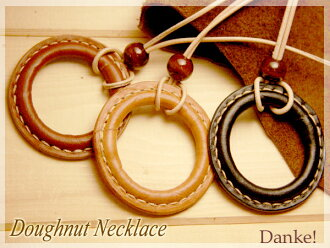 Bohemian DAN-A10 made of handmade doughnut necklace leather accessories leather