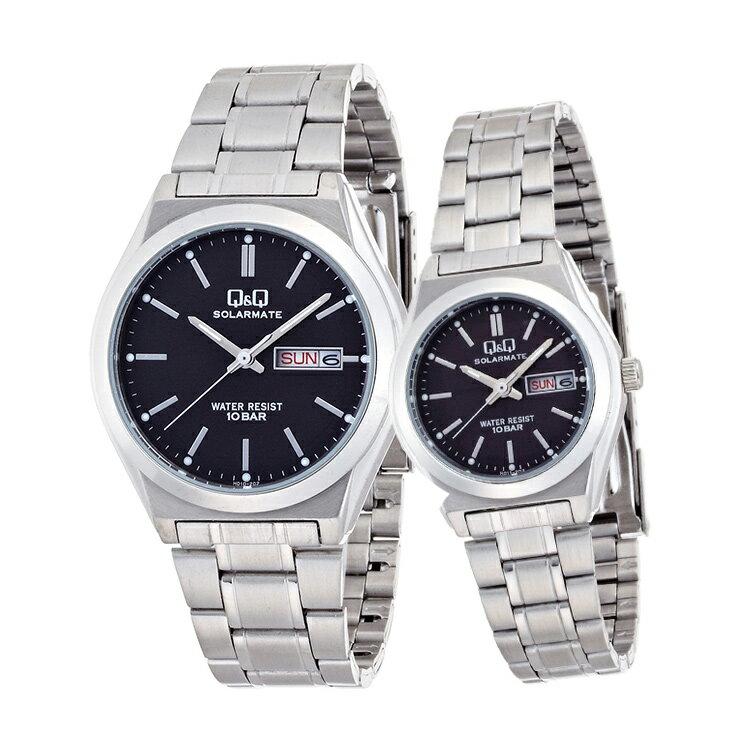 ペアウォッチ Q&Q ペア 腕時計 Falcon ファルコン ステンレスバンド バーインデックス キューアンドキュー H010-202/H011-202 シチズン 取り寄せ SPAIR0059