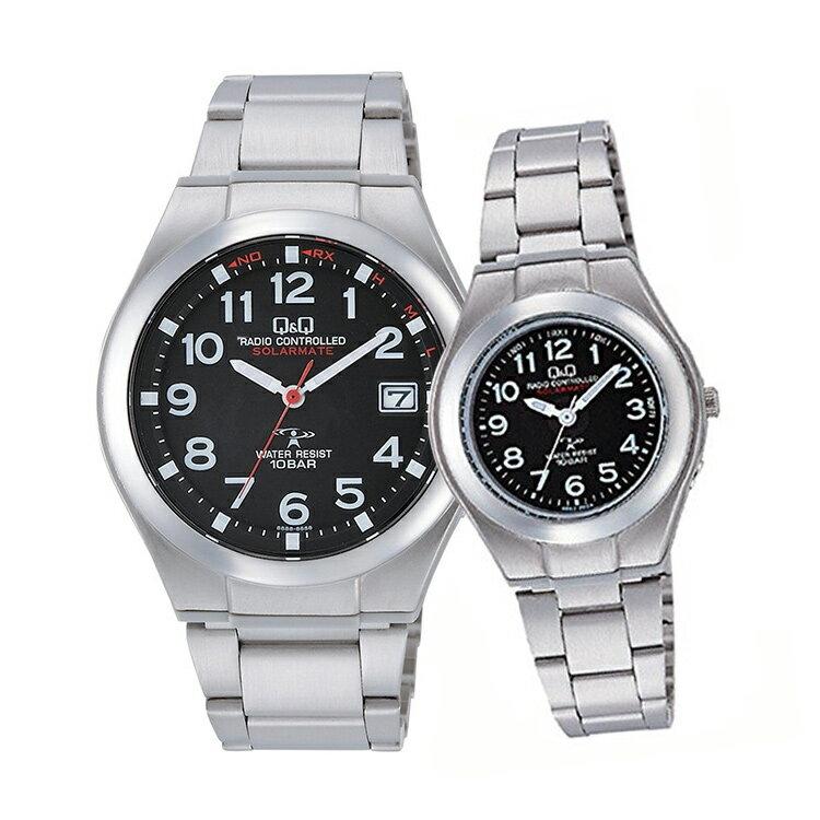 ペアウォッチ Q&Q ペア 腕時計 ソーラー電波時計 アナログ ステンレスバンド アラビア数字 キューアンドキュー HG12-205/HJ01-205 シチズン 取り寄せ SPAIR0062