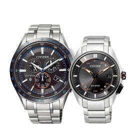 ペアウォッチエコ・ドライブBluetoothブルートゥーススマートフォン連携エコドライブペア腕時計オレンジアクセントBZ1034-52E/BZ4004-57ECITIZENシチズンSPAIR0101