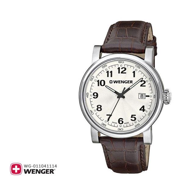 Wenger ウェンガー 腕時計 ウォッチ メンズ アーバンクラシック URBAN CLASSIC 01.1041.114 茶色 ブラウン 革バンド 革ベルト レザー スイス