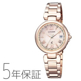 xC クロスシー ハッピーフライト エコドライブ電波時計 ピンクゴールド EC1032-54X シチズン CITIZEN 腕時計 レディース 日付 | 電波時計 ソーラー エコ・ドライブ 女性用 電波腕時計 国内正規品