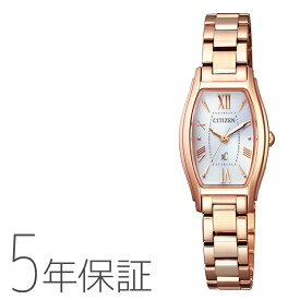 3/1(月)限定!当店エントリーで更にP10倍!xC クロスシー EW5543-54A シチズン CITIZEN エコドライブ トノーフェイス ピンクゴールド レディース 腕時計