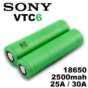18650 バッテリー ソニー Sony VTC6 18650 3000mAh 1個 充電可能 MOD VAPE 電子タバコ 電池 メーカー 正規品