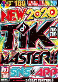 洋楽 DVD 4枚組 160曲 2020年最新 TikTokマスター New 2020 Tik Master SNS & APP Best - DJ Beat Controls 4DVD