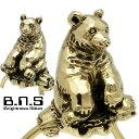 金色の熊、ヒグマキーリング ブラス 真鍮(くま、クマ、ひぐま、羆、えぞひぐま、エゾヒグマ、キーホルダー、キーチェ…