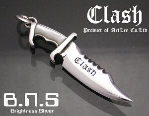 Clash キラーナイフペンダント シェルグリップ-ホワイト(サバイバルナイフ,ランボーナイフ,刃物,武器,兵器)
