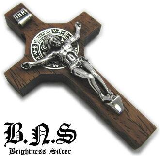 圣 benedictchristrosario 吊坠木材 6 x 925 银