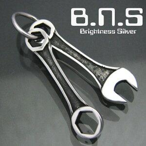 silver tools コンビネーションスパナ&六角めがねレンチペンダント シルバー925 銀製(工具 コンビネーションレンチ、メガネレンチ、六角レンチ、ボルト、ナット、ネジ)